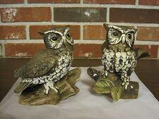 2 Homco Ceramic / Porcelain Owls #1114