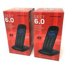 2 Packard Bell DECT 6.0 Digital Cordless Phone Expandable Handsfree Intercom NEW