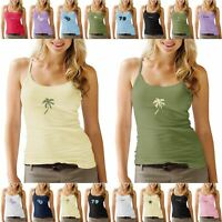 LADIES TWIN PACK STRAPPY VEST STRETCHY PRINT WOMENS CAMI T SHIRT TEE SUMMER TOP