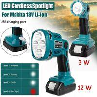 12W/3W LED Taschenlampe Strahler Licht Für Makita DML812 18V / 14.4V Li-ion Akku