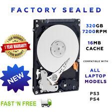 "320GB 2.5"" SATA Internal Laptop Hard Drive HDD 7200RPM 16MB NEW FACTORY SEALED"