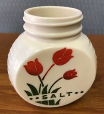 Vintage Anchor Hocking Fire King Swaying Tulips Salt Shaker Milk Glass
