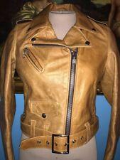 Schott Womens 525W Rust Brown Leather Jacket-S2-$720 MSRP