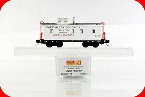 N Scale UP UNION PACIFIC, Safe Happy Holidays CA-1 Caboose MICRO-TRAINS 05000170