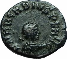 ARCADIUS Original 383AD Cyzicus Authentic Ancient Roman Coin VOT V Wreath i66190