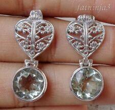Butterfly Fastening Amethyst Handcrafted Earrings