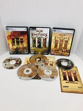 AGE OF EMPIRES III Lot Of 3 THE ASIAN DYNASTIES WAR CHIEFS Expansions PC w/ Keys