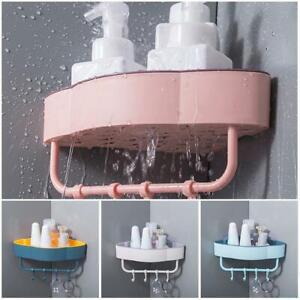 Dusche Caddy Regal Badezimmer Wandkorb Rack Lagerung Organizer Eckhalter E0P7
