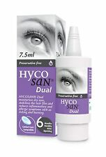 Hycosan Dual Preservative-Free Lubricating Allergy Eye Drops 7.5ml