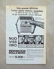 C901 - Advertising Pubblicità - 1959 - REMINGTON ROLL-A-MATIC RASOIO ELETTRICO