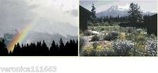 New 6 Mount Shasta Blank Greeting Cards 2 different designs Flowers Rainbow