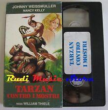 film VHS TARZAN CONTRO I MOSTRI  William Thiele CUSTODIA CARTONATA (F29) no dvd
