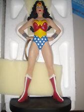 WARNER BROS The WONDER WOMAN Statue Figurine W/Box MIB Maquette Bust Superman