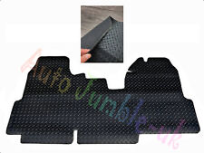 Tailored Ultra Thick Heavy Duty Rubber Van Mat Black fits Ford Transit 2006-2012
