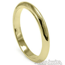 18k Yellow Gold   Knife Edge Plain Wedding Band Ring Sizes 4 to 11.5 #R1334