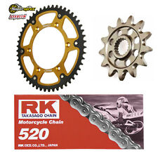 SUPERSPROX + RK STEALTH SPROCKET SET HONDA CR 250 88-07 520 BLACK RK CHAIN