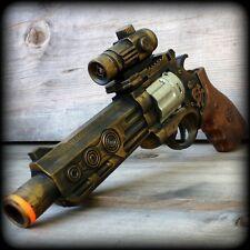 Steampunk cyber gothic gun revolver pistol Victorian laser LIGHT pirate Toy skul