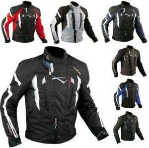 Veste Cordura Moto Tissu Imperméable Sport Touring Thermique Amovibles