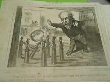 Caricature 19èm - Jeu de Quille la Boule à encore culbuter mes petites quilles
