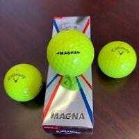 CALLAWAY Supersoft MAGNA Golf Balls - YELLOW - NEW 3-Ball Sleeve