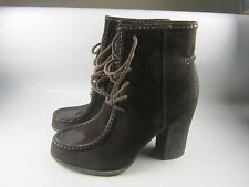 NEW Frye Parker Short Womens Distressed Brown Suede Leather Lace Ankle Boots  8M