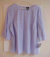 Women's  Liz Claiborne Blouse Top  Lavender Stripe 2X XXL. NWT