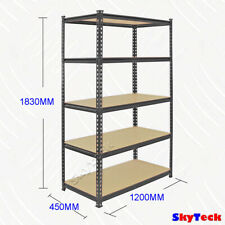 1.2M GARAGE WAREHOUSE METAL SHELVING RACKING STAND WORK SHELF 5x200kg 9-G120K