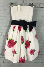 Abercrombie Gilly Hicks Sydney Dress S White Floral Strapless Fit n Flare NWT