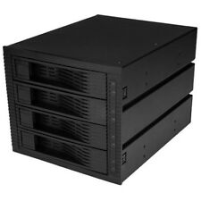 StarTech.com 4 Bay 3.5in SATA SAS Backplane - Hot Swap Mobile Rack for 3 5.25in