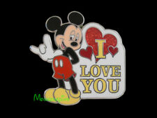 """MICKEY Mouse using SIGN LANGUAGE to say """"I LOVE YOU"""" Disney 2013 Pin"""