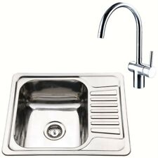 waste mixer tap Modern Kitchen Sink 940x470mm 1 single bowl Stainless Steel