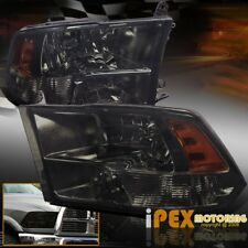 New 2009-2016 Dodge Ram 1500 Special Smoked BlackOut Quad Headlight Headlamps