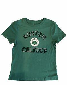 NBA Boston Celtics Girls Tshirt Sz Medium M 7-8 Green Shirt Basketball