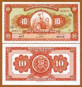 Peru, 10 Soles De Oro, 23-2-1968, P-84, aUNC