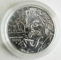 2016 P US Mint Mark Twain Silver BU One Dollar Commemorative Coin Only UNC