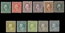 1917-19 1c-20c WASHINGTON-FRANKLIN ISSUE - SELECT GROUP MINT #498-99 501-03 507-