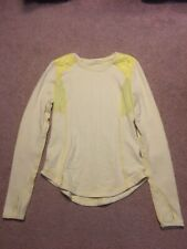 Lululemon Womens Top Electric Yellow XS