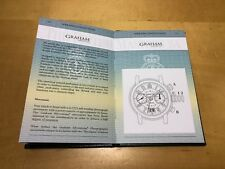 New - GRAHAM London - Silverstone - Manual Passport with Operating Instructions