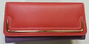 Gabee women large leather wallet 56005PLZ Salmon retail $115.00