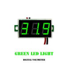 Mini DC 0-30V LED 3-Digital-Anzeige Spannung-Voltmeter Panel Meter mit 2 Drähten