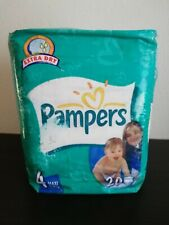 Vintage Pampers Extra Dry 20 pieces size 4 MAXI 7-18 kg, 17-40 lbs 2002 NEW