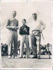 1936 Pinehurst North Carolina Torchy Toda Joe Turnesa & Jim Thomson Press Photo