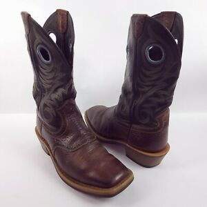 Ariat Mens Size 8.5D Heritage Roughstock Wide Square Toe Earth #10014024