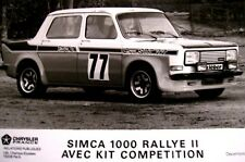 4 AUTOCOLLANTS- SIMCA 1000 RALLYE  > COUPE SRT 77 - NEUFS >+1 Sticker SRT OFFERT