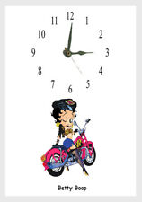 Betty Boop BIKER  wall clock Personalised  Free