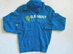 Element New Sweatshirt Youth Boy's Medium Full Zip Hoodie Ocean Blue Graphics
