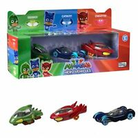 "PJ Masks 3"" Die-Cast Vehicles Pack of 3 | Official Catboy, Owlette, Gekko, Romeo"