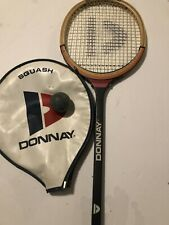 Vintage Donnay Allwood Squash Racquet Ian Robinson With Leather Cover W Ball