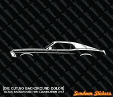 22X Car silhouette stickers - for Ford Mustang 1969 Fastback classic muscle car