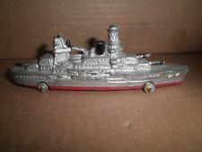 Great old original slush Barclay Manoil WWII Battleship Boat Ship on wheels